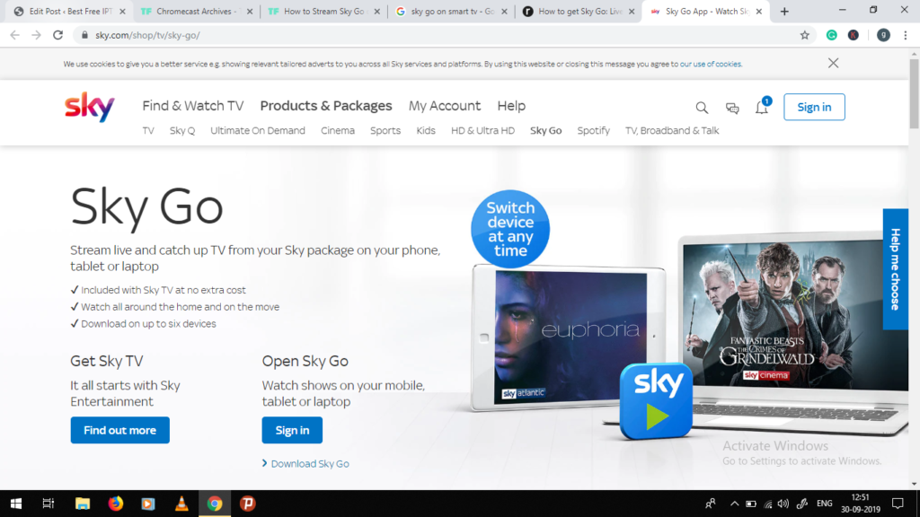 Sky go app on chromecast pc