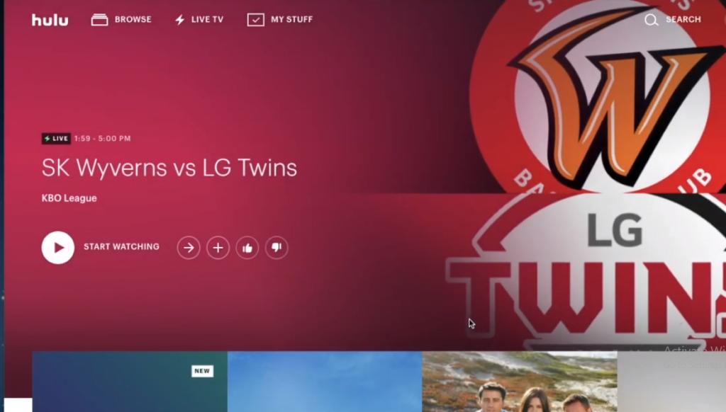 Hulu Live TV on Samsung Smart TV