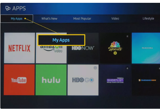 Update Hulu on Samsung Smart TV